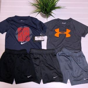 Bundle of 4T Nike shorts and tops